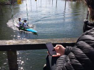 scoring a canoe slalom race with CloudTimer
