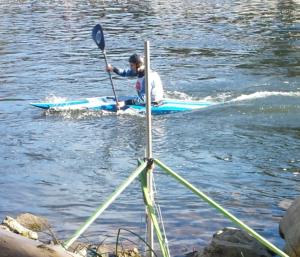 Using photo beam in canoe slalom