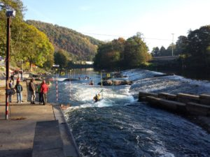 Dutch and Belgian Championship canoe slalom race