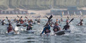 Surfski race timed with cloudtimer