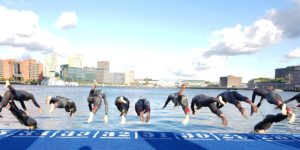 Triathlon start - foto C. Brouwer