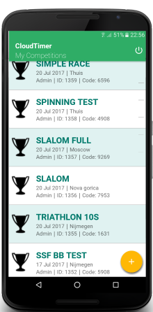 race menu Android