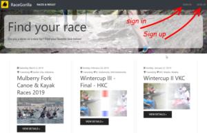 RaceGorilla Homepage