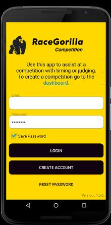 login-Android-RaceGorilla