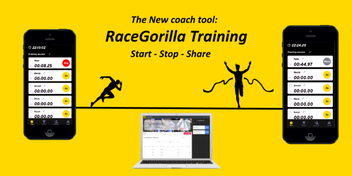 Racegorilla Training app with live results